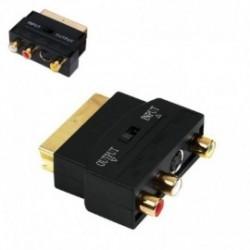 ADAPTADOR EUROCONECTOR A RCA/SVIDEO NANOCABLE 10.27.0051 - SCART / 3XRCA HEMBRA / SVIDEO HEMBRA - SWITCH INPUT/OUTPUT